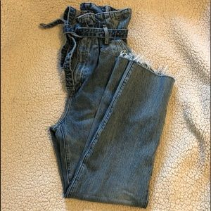 Paper bag waist jeans- Abercrombie and Fitch
